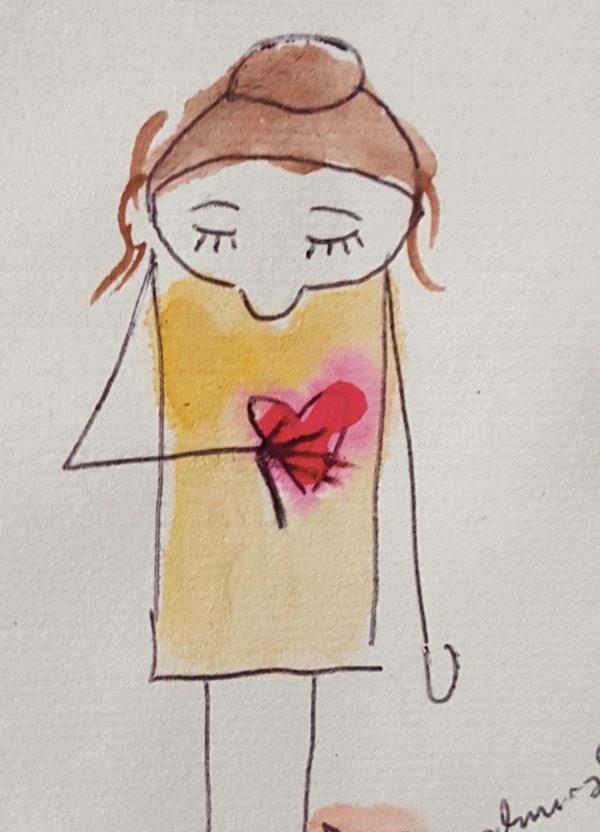 Copyright Doris Reich | Postkarte: Herzfrau