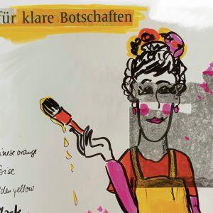 Copyright Doris Reich | Postkarte: Klare Botschaft